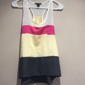 Forever 21 color block tank top